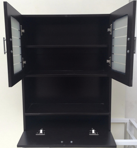 Mueble De Madera Organizador Para Baño Chocolate - $ 1,762 ...