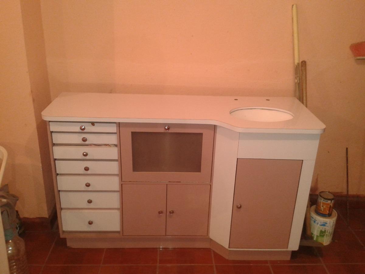 Mueble de madera para consultorio dental con lavabo 4 en mercado libre - Mueble lavabo madera ...