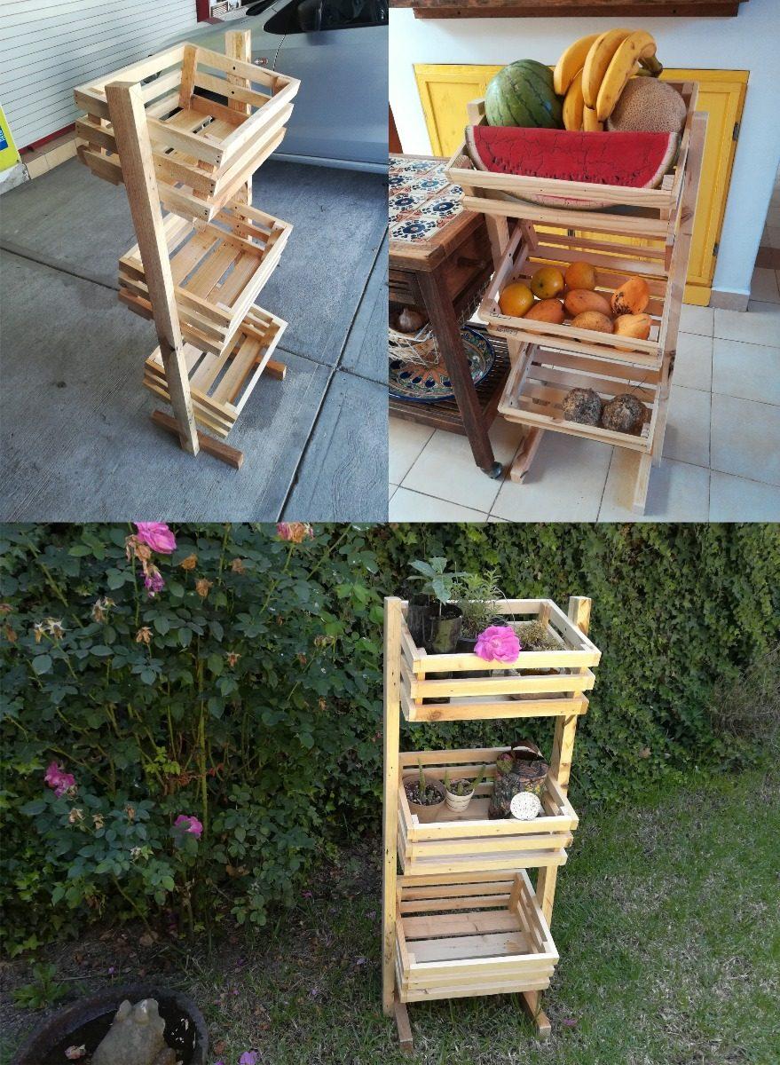 Mueble de madera reciclada para jard n o auxiliar de - Muebles de cocina madera ...