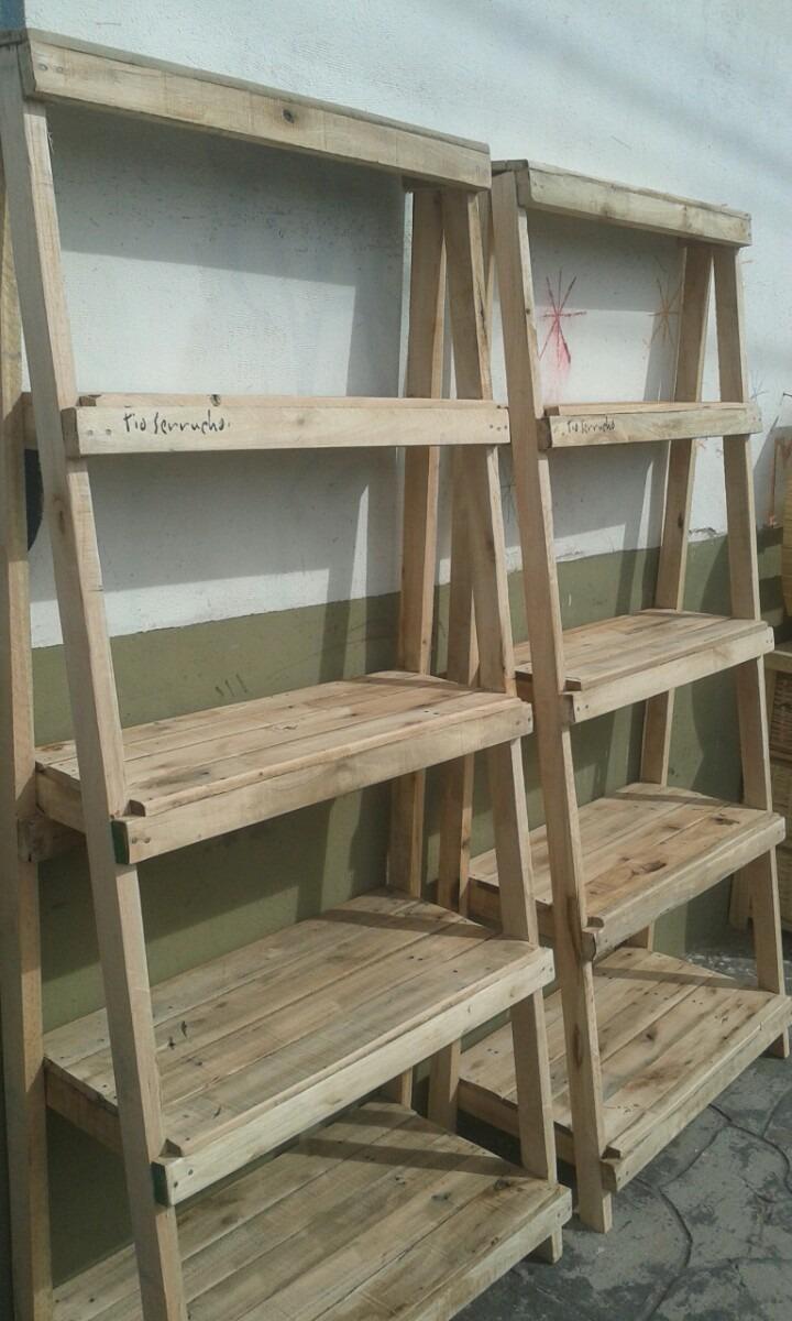 Mueble De Madera Recuperada Biblioteca Estantería Repisa 1200