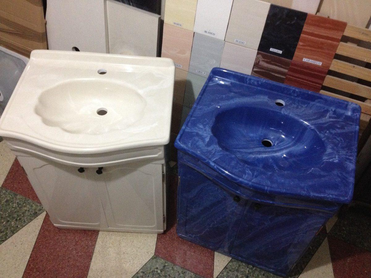 Mueble de marmolina para ba o varios colores con lavatorio for Muebles para bano uruguay
