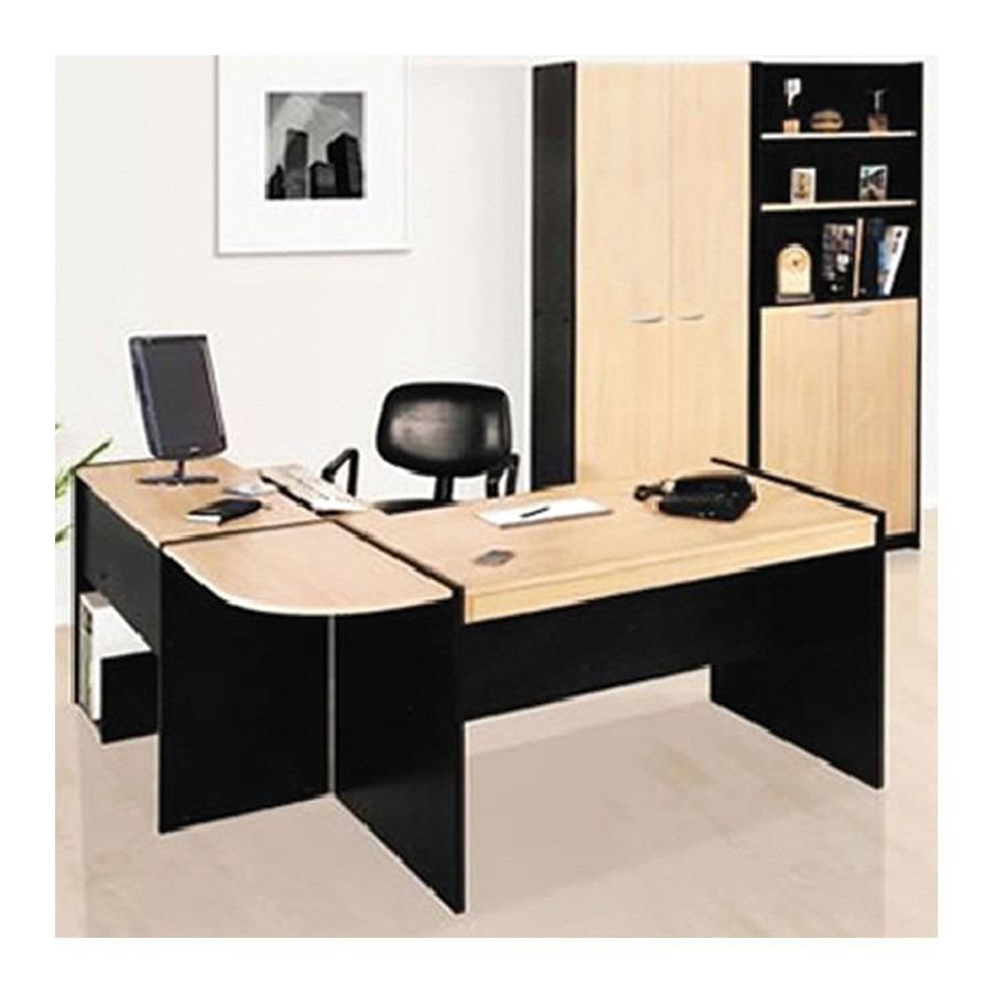 Mueble De Oficina Combo Platinum Escritorio Mesa Beiro Hogar ...
