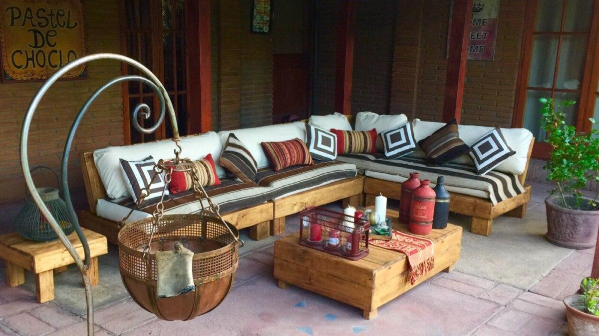 Mueble De Palet Pallets Terraza L  $ 620000 en Mercado Libre