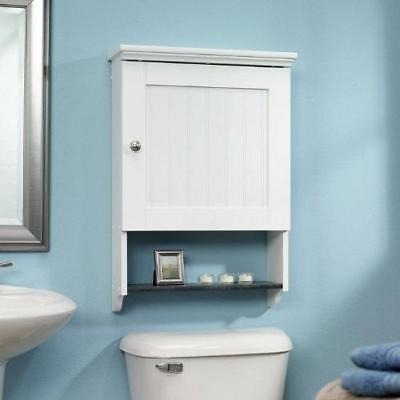 Mueble De Pared Para Cuarto De Baño En Acabado De Madera Bl