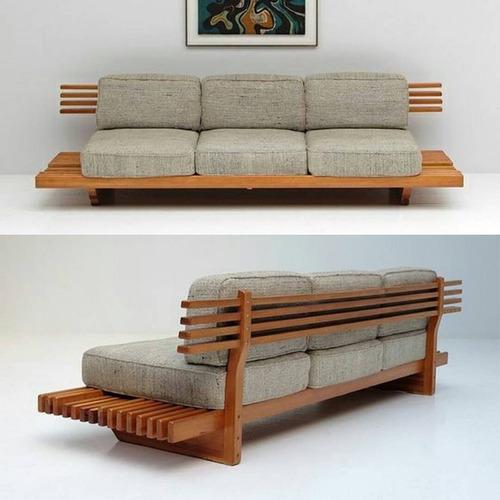mueble de sala en madera de caoba