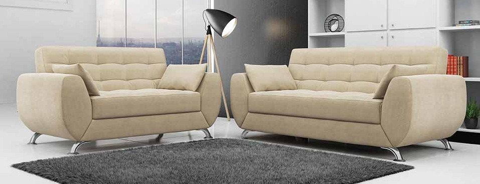 Mueble de sala larissa de 3 juego de sala s for Juego de muebles para sala modernos