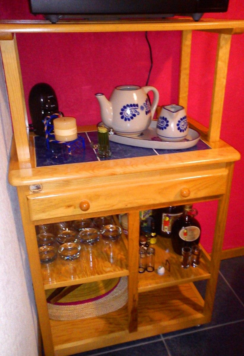 Mueble de servicio para cocina de madera de pino 2 000 - Muebles madera de pino ...