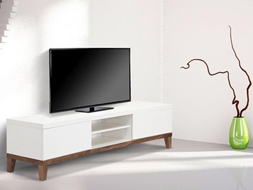 mueble de televisor moderno en madera lacada ref: adema