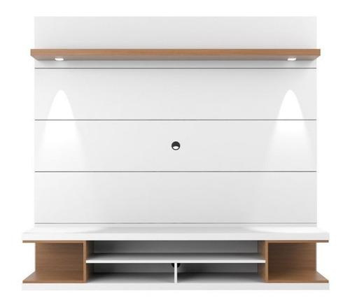 mueble de tv con panel oculta cable ref: mural24 lacado