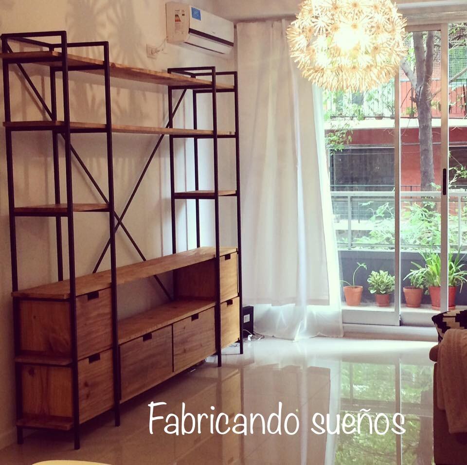 Mueble De Tv Estilo Industrial 12 600 00 En Mercado Libre # Muebles Rio Cuarto