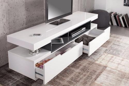 mueble de tv  livo2 de 150 cm en madera lacada envio gratis