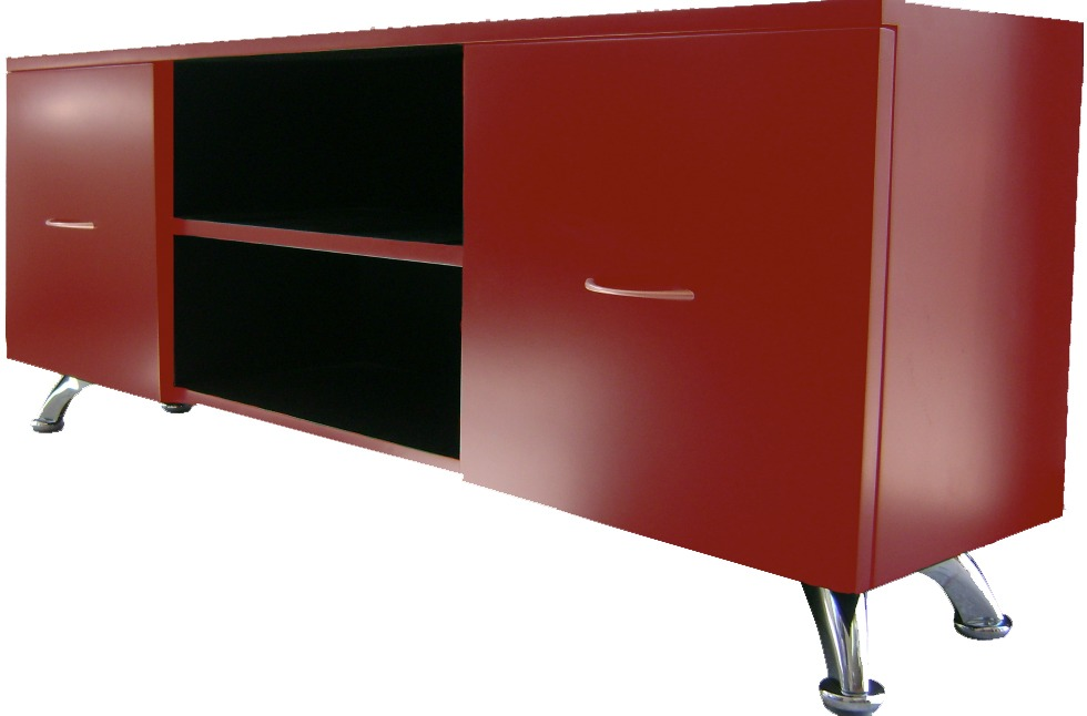 Mueble de t v minimalista contemporaneo poliuretano oferta for Mueble tv minimalista