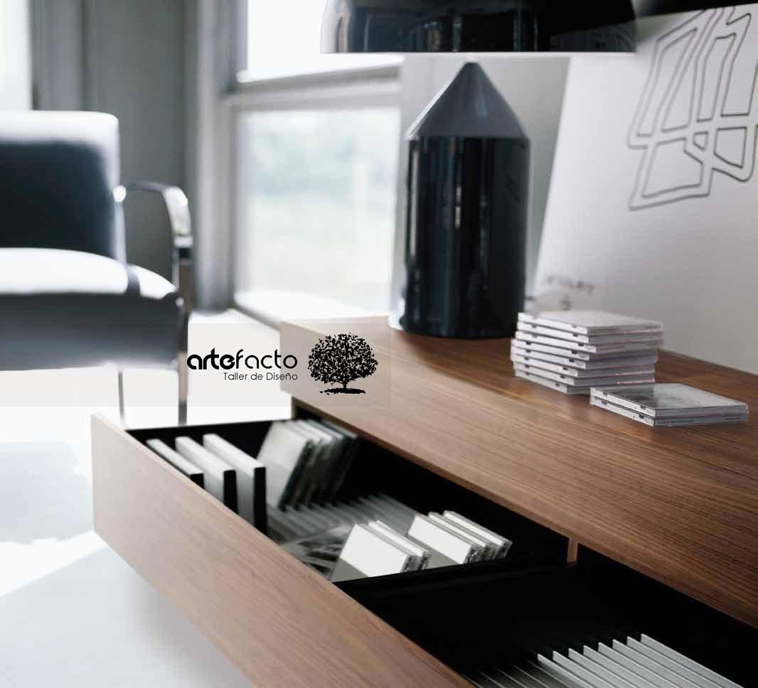 Mueble de tv minimalista laca o madera para pantalla lcd for Muebles de algarrobo mercadolibre