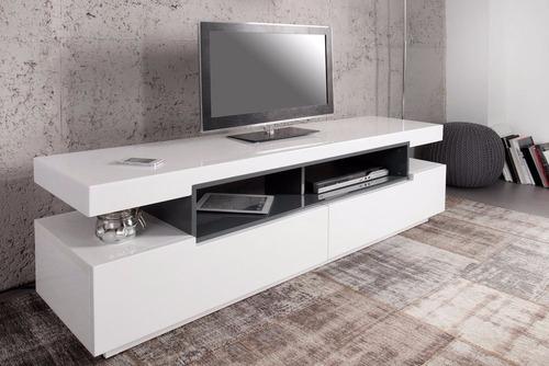 mueble de tv moderno de 150 cm en madera lacada ref livo 2.0