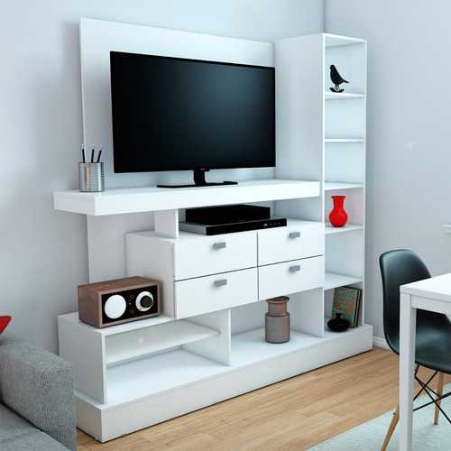 mueble de tv modular rack 126 para tv / led 55'
