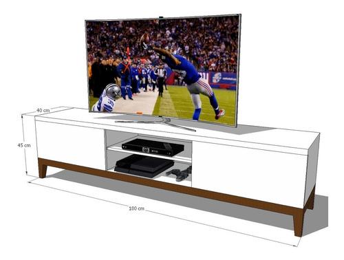 mueble de tv ref: adema 180 cm en madera lacada poliuretano