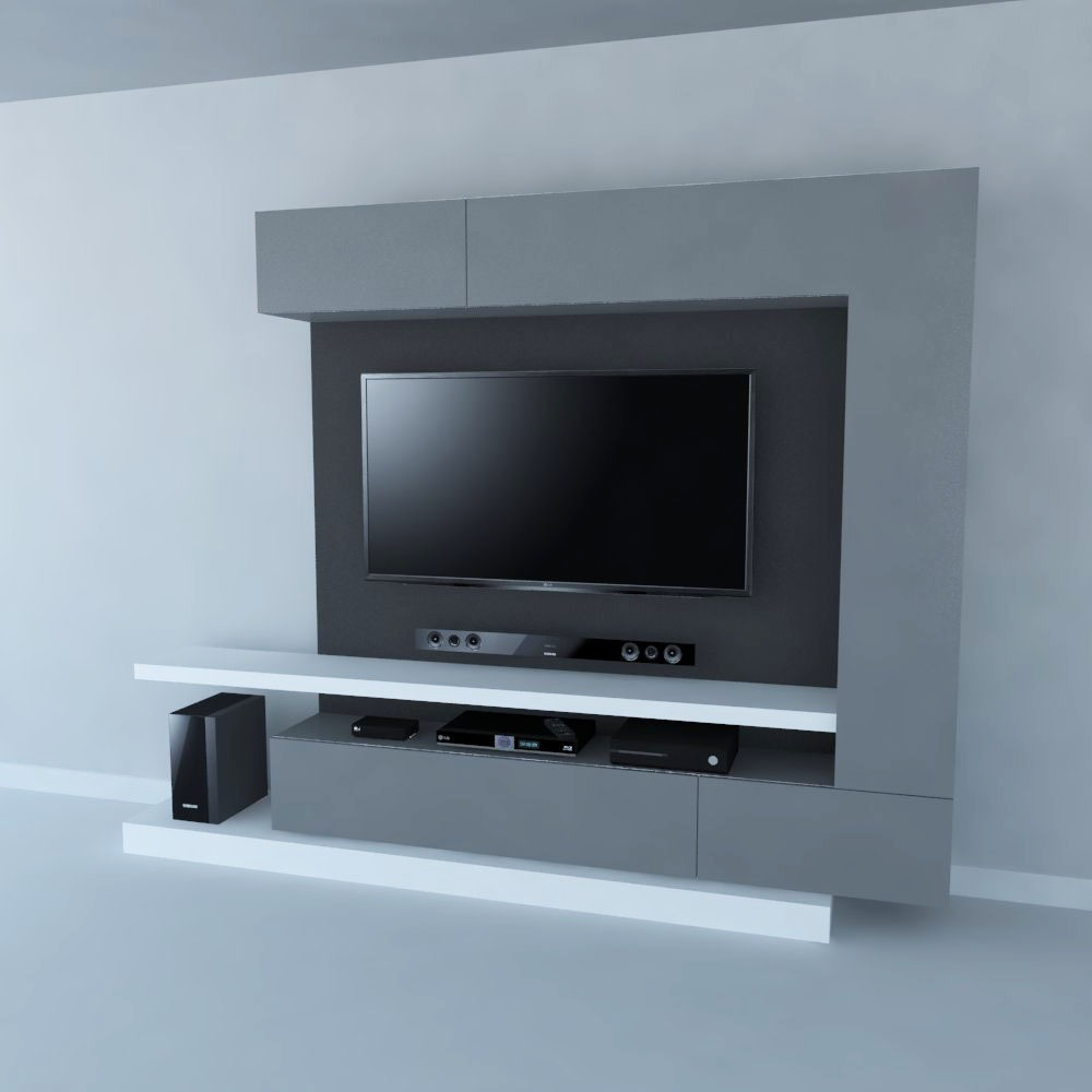 mueble de tv ref mural45 de 250 cm panel para ocultar cables en mercado libre. Black Bedroom Furniture Sets. Home Design Ideas