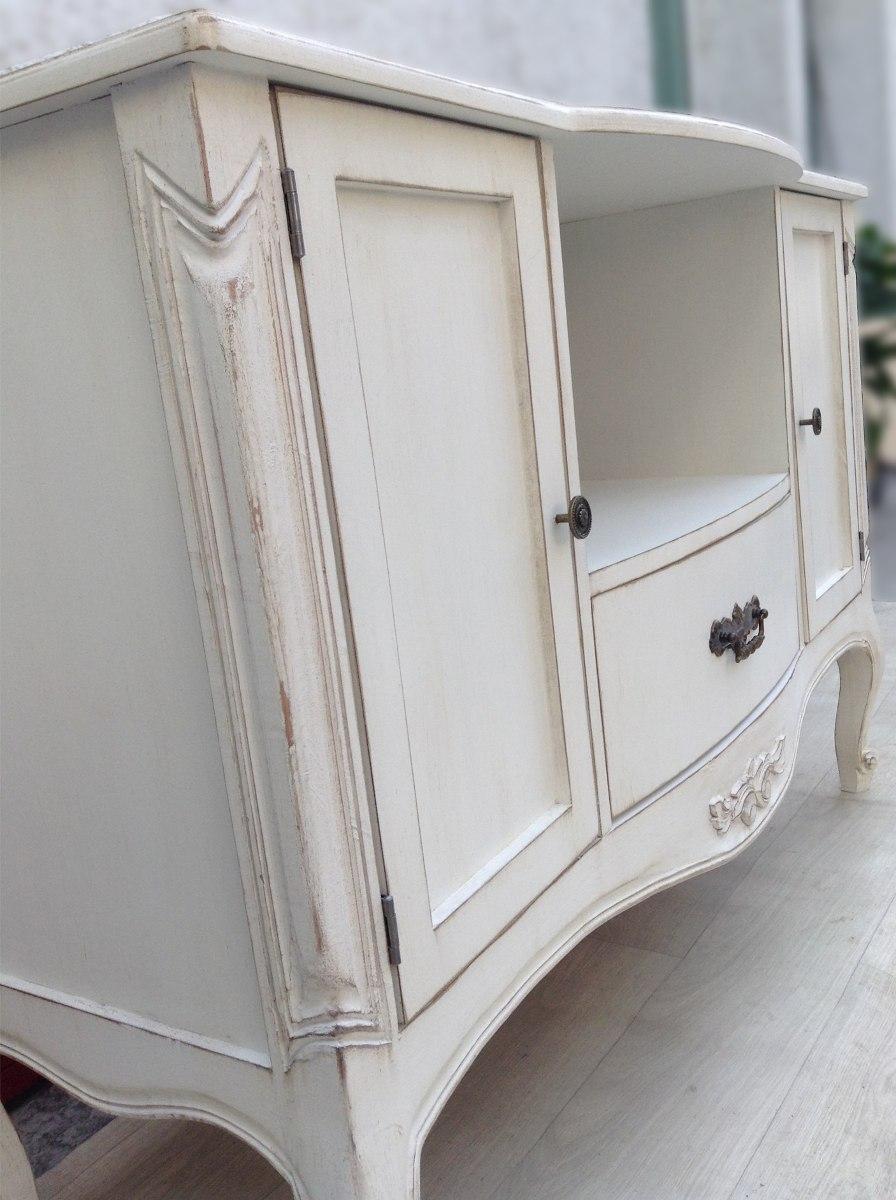 Mueble de tv vintage comoda estilo antiguo en cedro - Muebles estilo antiguo ...