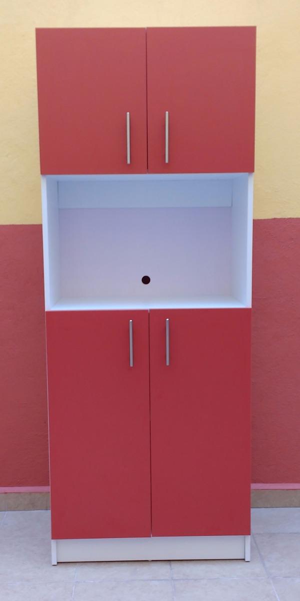 Mueble despensero para horno de microondas minimalista for Cocinas 70 cm ancho argentina