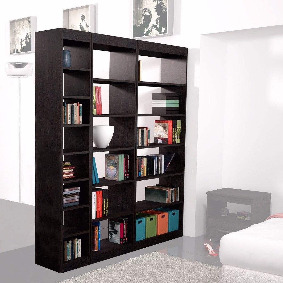 Mueble Divisor De Ambiente Combo Bibliotecas Altas Fiplasto  # Muebles Fiplasto