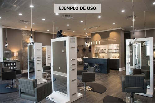 mueble dual para peluqueria salon de belleza maquillaje