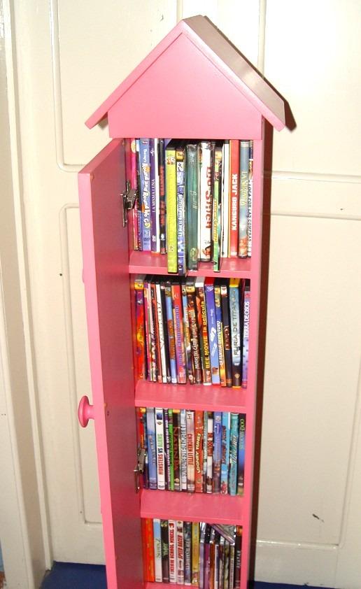 Mueble organizador de peliculas dvd cds 5 entrepa os for Mueble porta cd