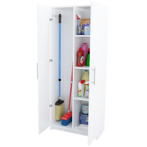 mueble escobero despensero 2 puertas organizador blanco