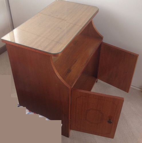 mueble escritorio estante madera intacto usado decorativo