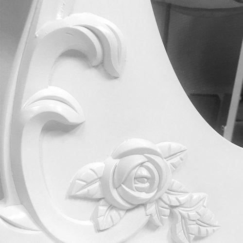 mueble espejo tocador toillete + taburete / r4706