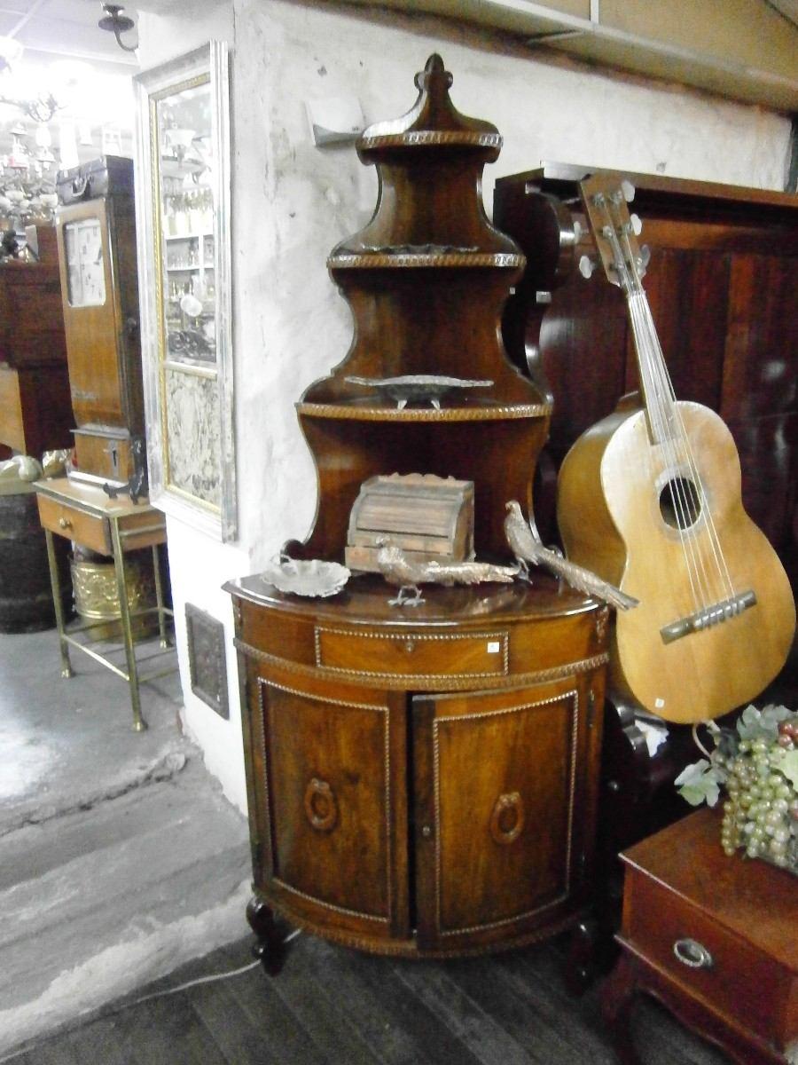 Mueble De Madera Esquinero Con Divisiones De Vidrio Y Madera Pictures