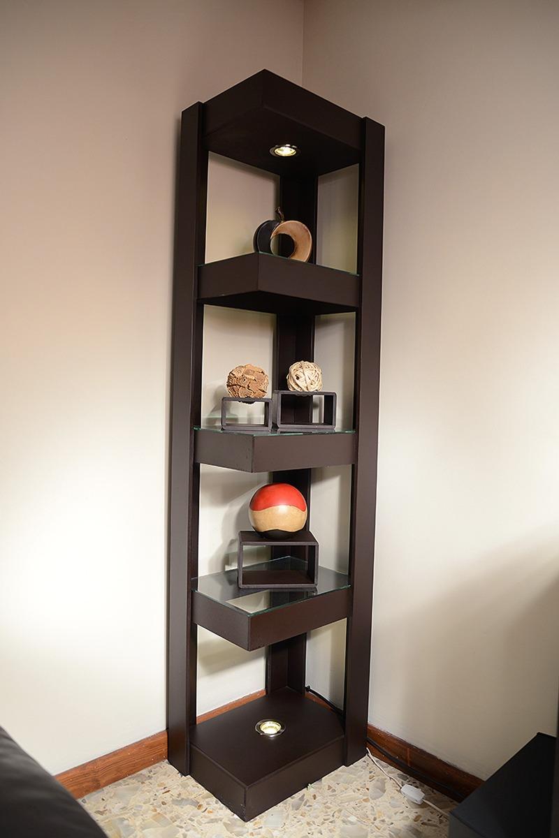 mueble esquinero con luz de madera mdf 1 en