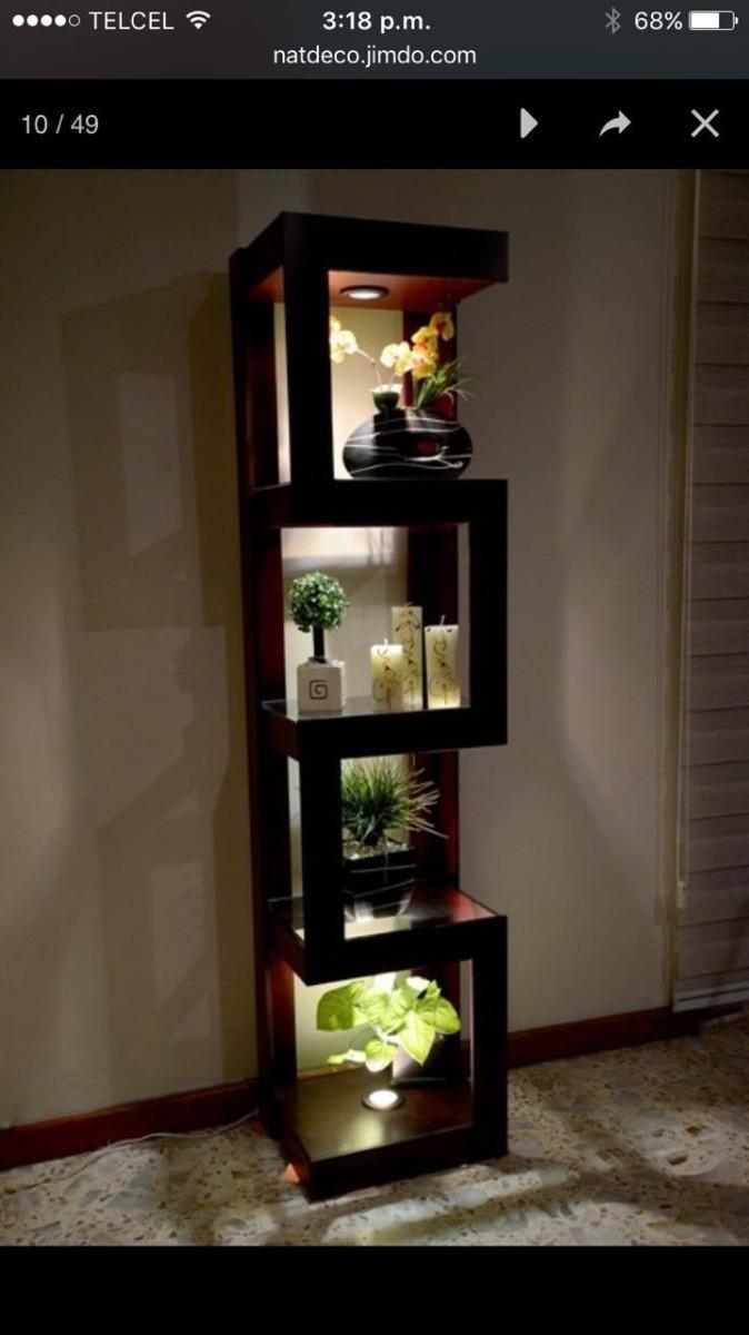 Mueble esquinero con luz de madera mdf z3 1 en for Muebles esquineros de madera