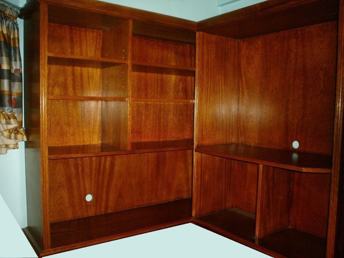 Mueble Esquinero Para Lcd Computadora Escritorio Biblioteca  # Muebles Esquineros Para Sala
