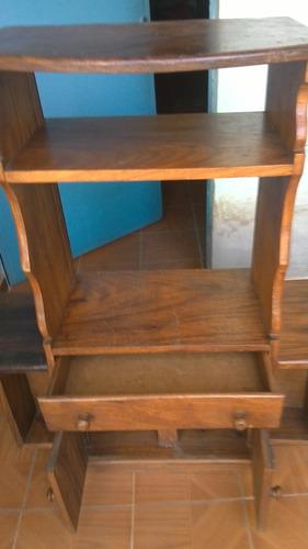 mueble estante biblioteca en madera