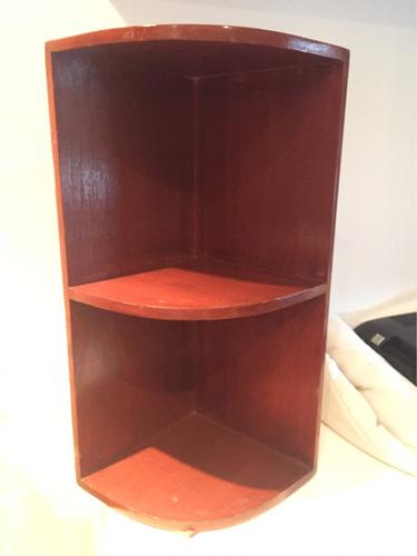mueble estante esquinero de madera