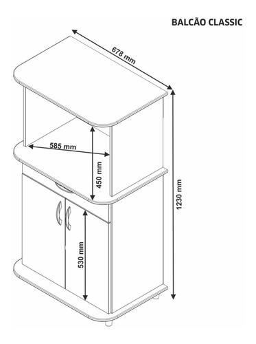 mueble estante rack microondas classic
