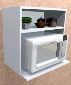 Mueble Estante Repisa Microondas Cocina Auxiliar Para Colgar