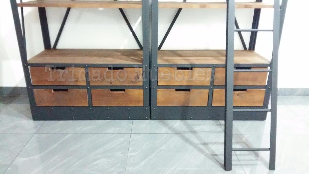 Muebles de madera y hierro herreria el vasco muebles en for Muebles con cajones de madera