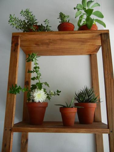 Estanterias para plantas ideas para decorar con macram for Muebles para plantas