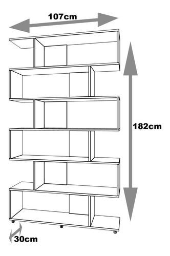 mueble estantería separador de ambiente.