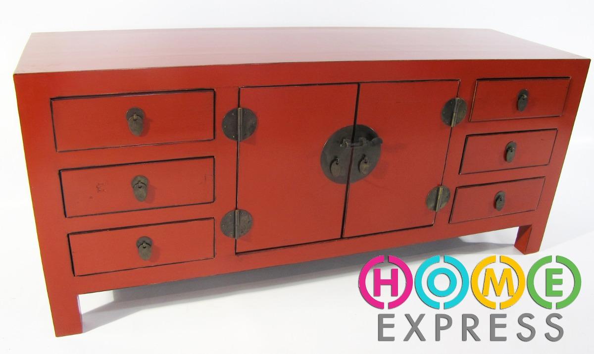 mueble estilo oriental en madera varios colores