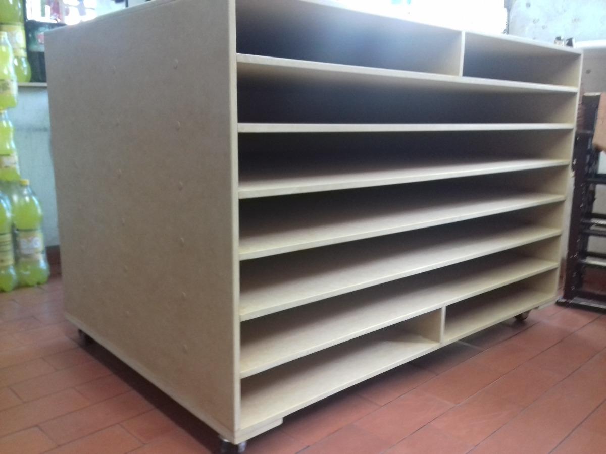 Mueble exhibidor para papeleria pliego y medio pliego for Muebles para papeleria