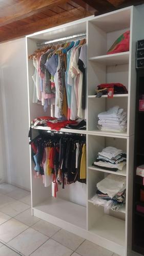 mueble exhibidor perchero comercial mostrador de ropa barral