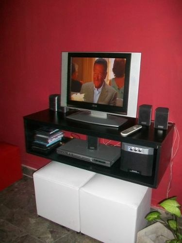 Mueble flotante 80 cm para tv lcd led xbox360 bluray for Mueble para xbox 360