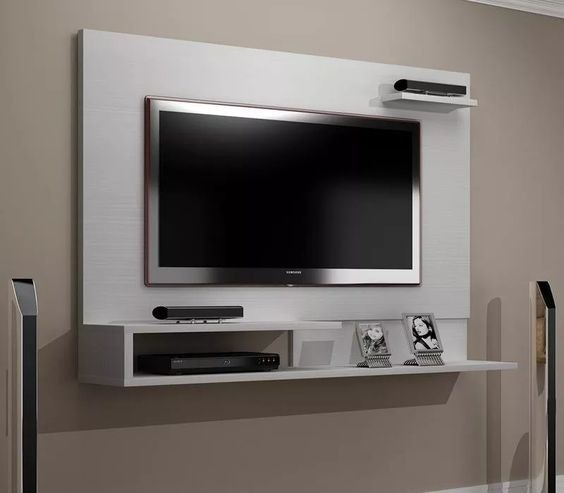 Mueble flotante para tv moderno barcelona en for Muebles modernos living para tv