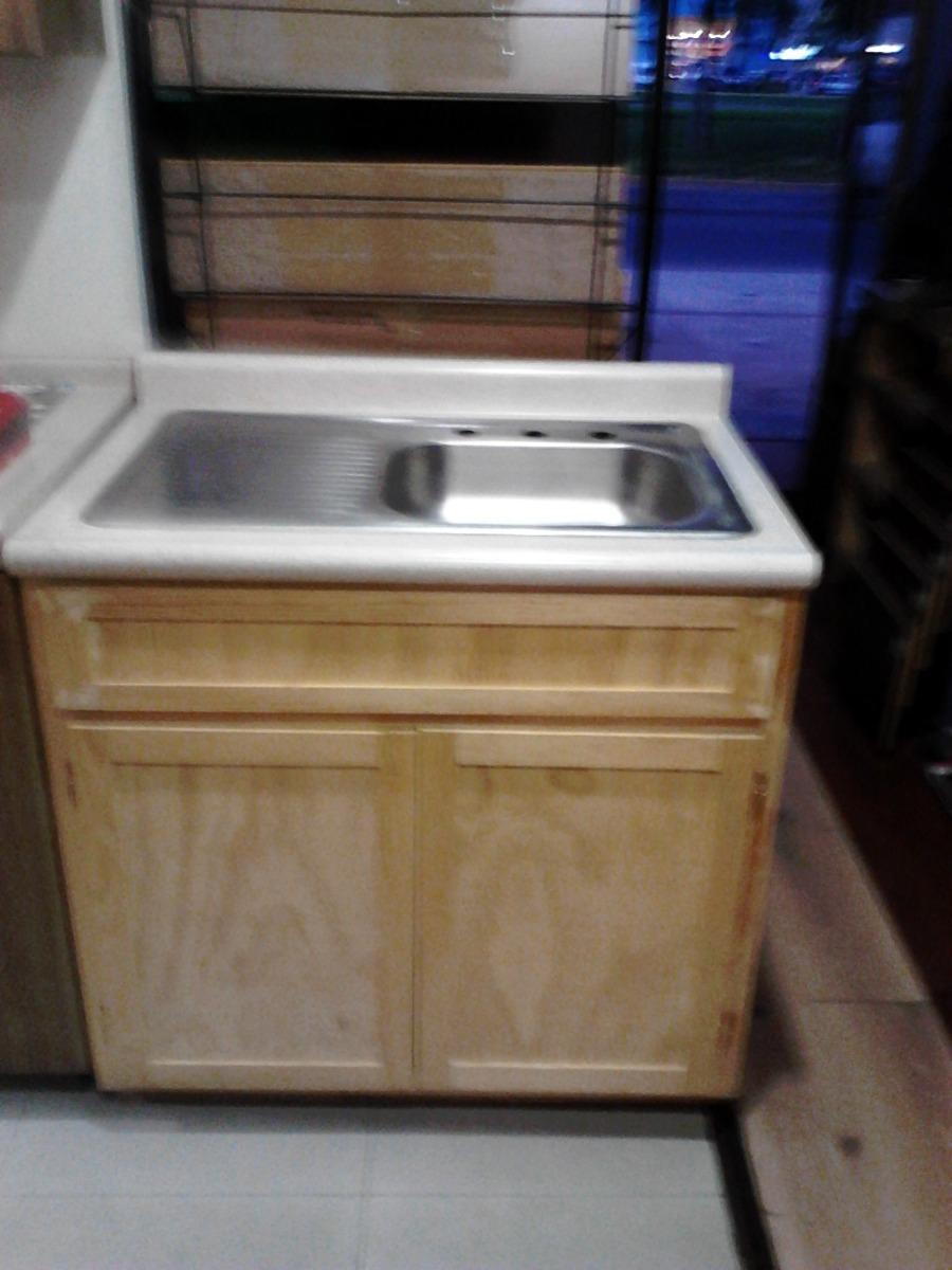 Mueble fregadero con tarja sencilla 2 en for Mueble fregadero cocina