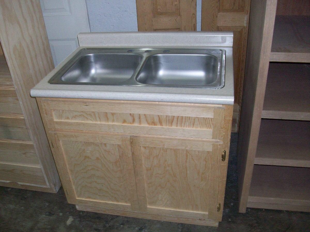 Mueble fregadero con tarja y mezcladora kit de instalacion - Muebles para fregaderos ...