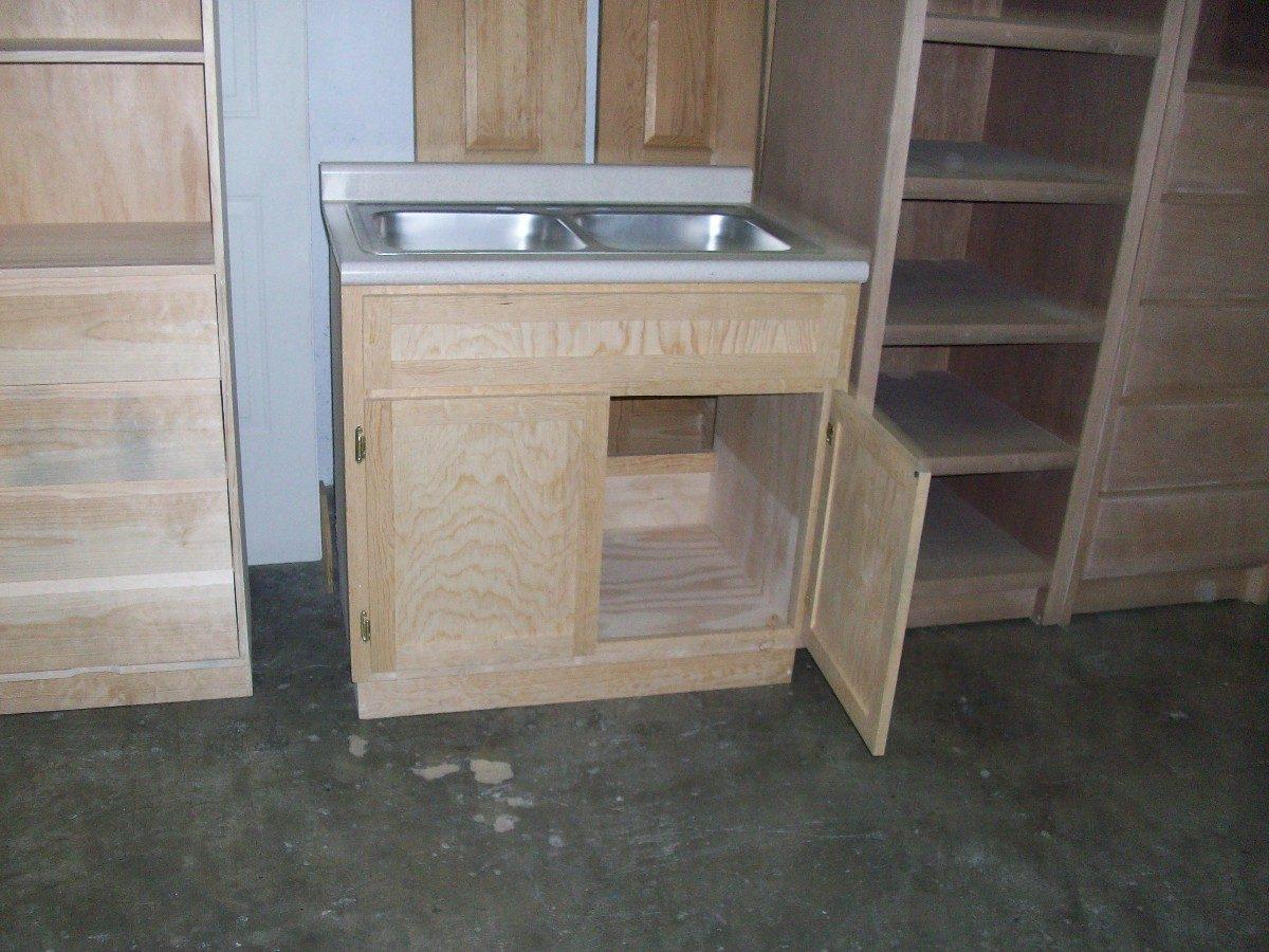 Mueble fregadero con tarja y mezcladora kit de instalacion for Mueble pared cocina