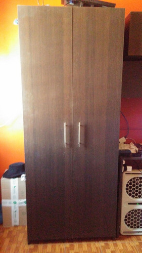 mueble gabinete estante de madera melamina marron oscuro