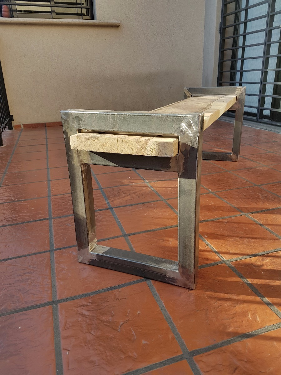 Mueble Hierro Y Madera, Banco - Caño - Industrial - Vintage ...
